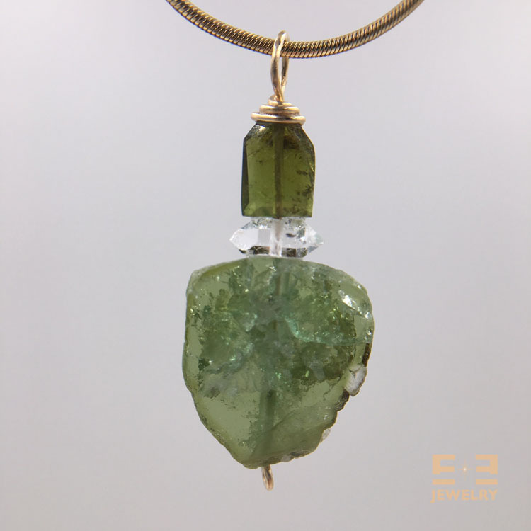 Green Tourmaline Herkimer
