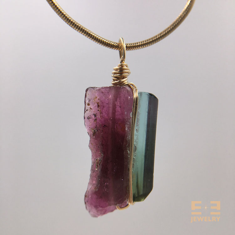 Red Tourmaline BlueGreen