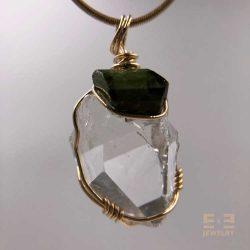 Herkimer Faceted Green Tourmaline