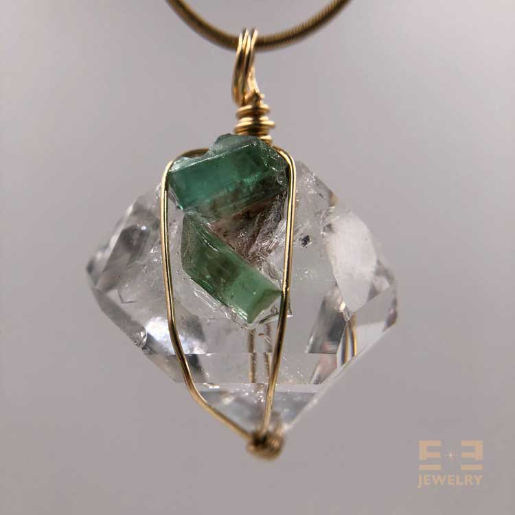 Herkimer Blue Green Tourmaline