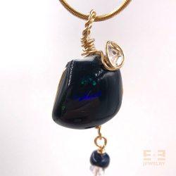 Black Opal Australia w Herkimer Diamond