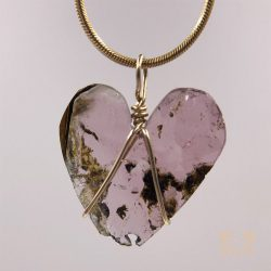 Pink/Red Tourmaline heart